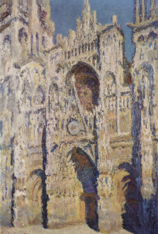 Claude Monet. Rouen Cathedral, the portal and the Tour d Alban in the sun