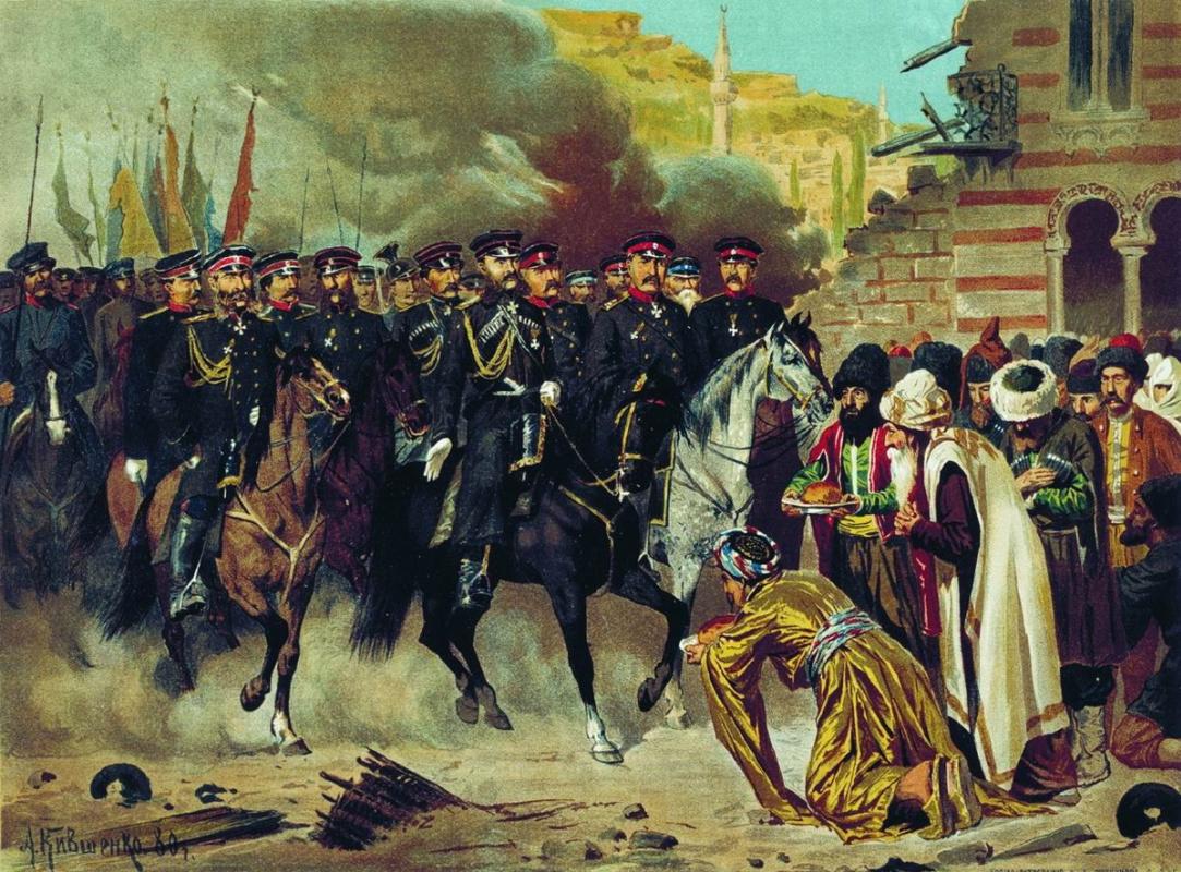 Alexey Danilovich Kivshenko. The capture of Kars. Entry. 1880