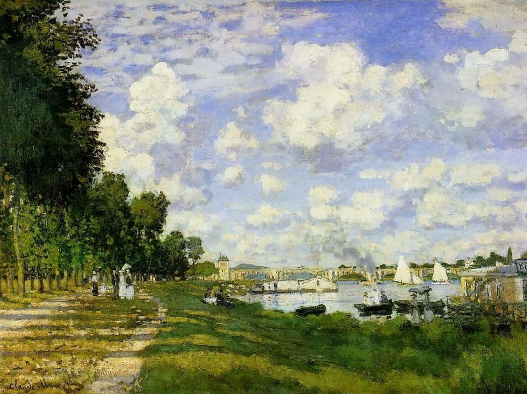 Claude Monet. Bay on the Seine near Argentea