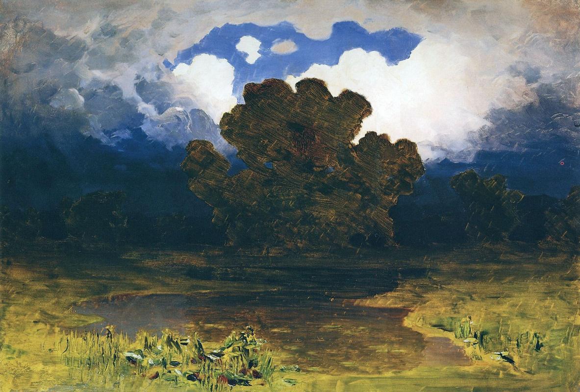 Архип Иванович Куинджи. Лесное озеро. Облако