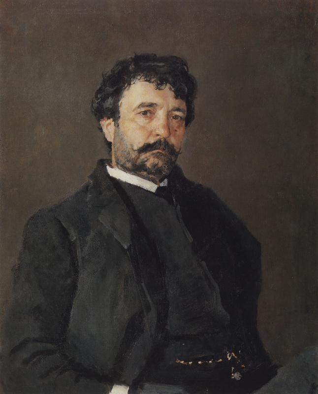 Валентин Александрович Серов. Портрет итальянского певца Анджело Мазини