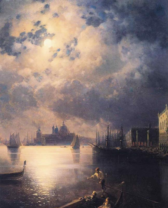 Ivan Aivazovsky. Byron in Venice