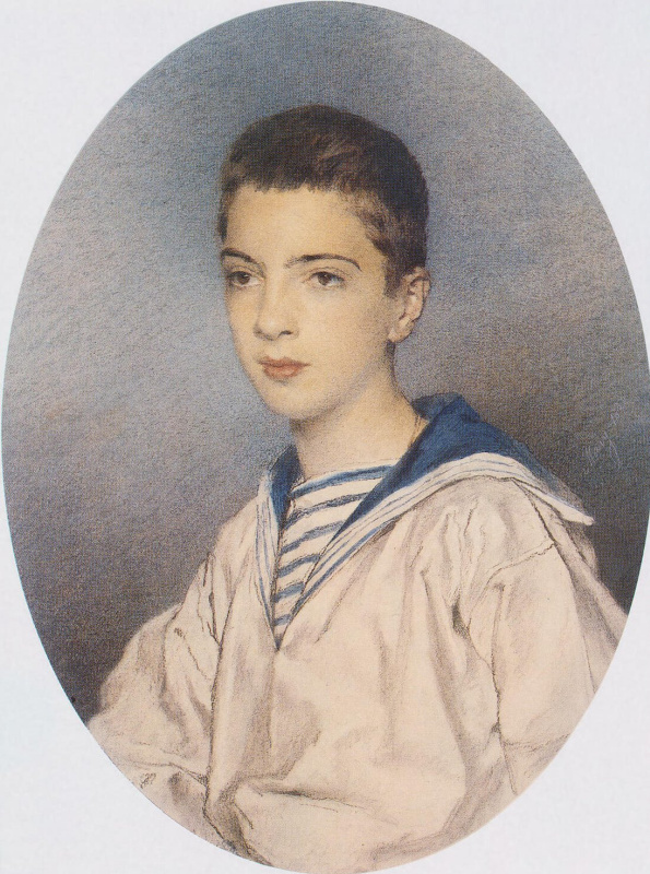 Мария Васильевна Этлингер. Портрет великого князя Александра Михайловича в юности