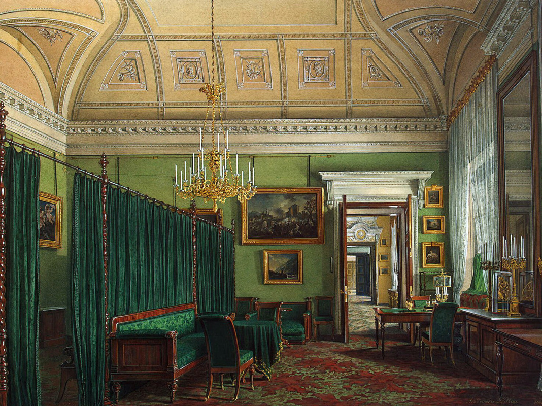 Types of rooms of the Winter Palace by Edward Petrovich Hau: History