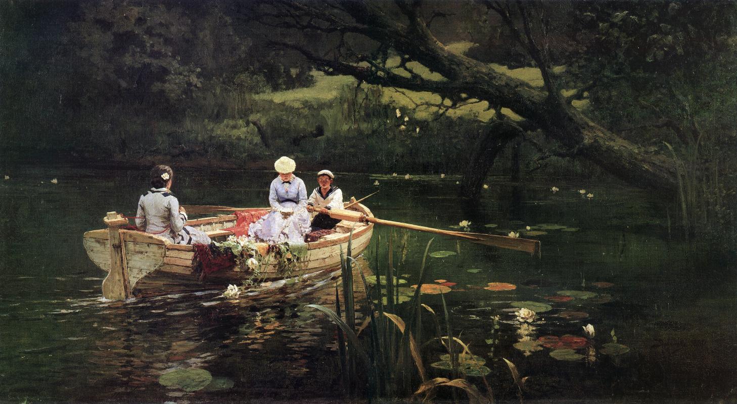 Vasily Polenov. On the boat. Abramtsevo