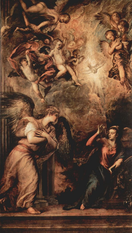 Titian Vecelli. The Annunciation