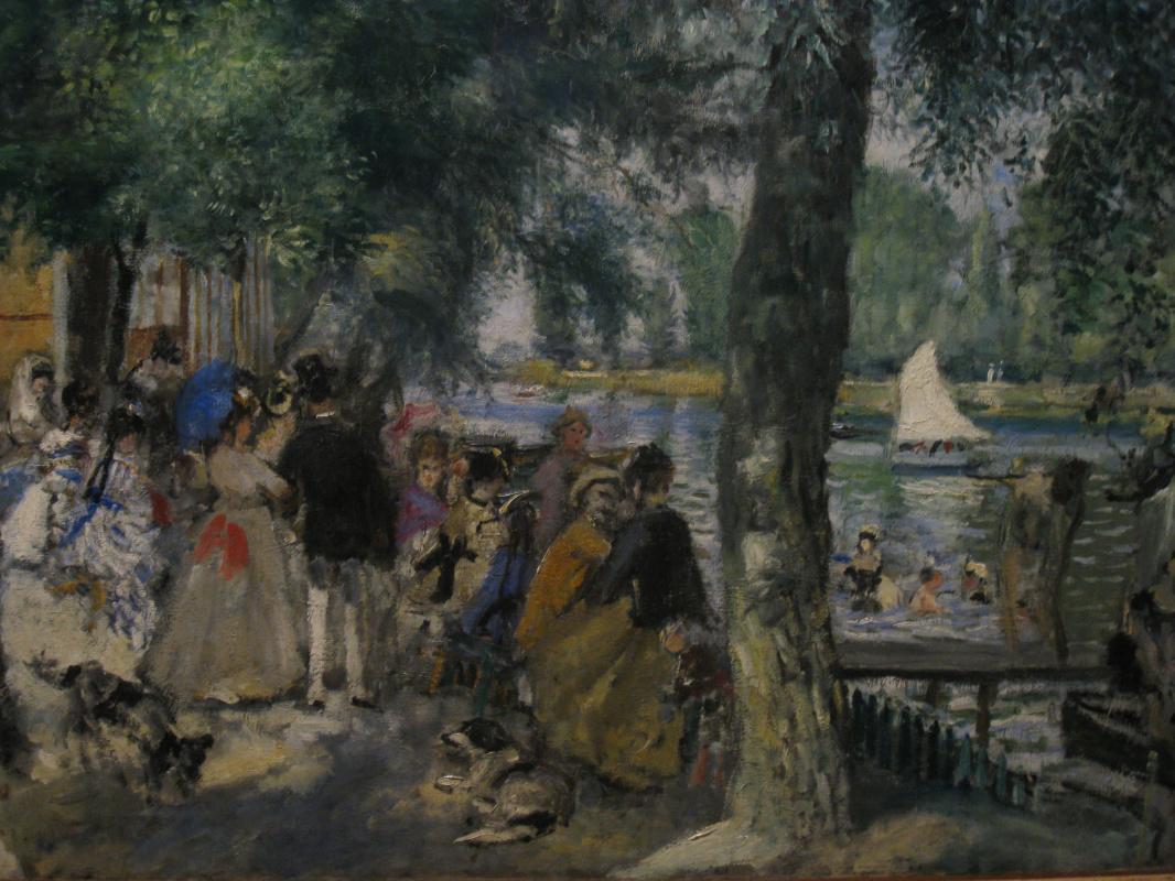 Pierre-Auguste Renoir. Bathing on the Seine, La Grenouillère