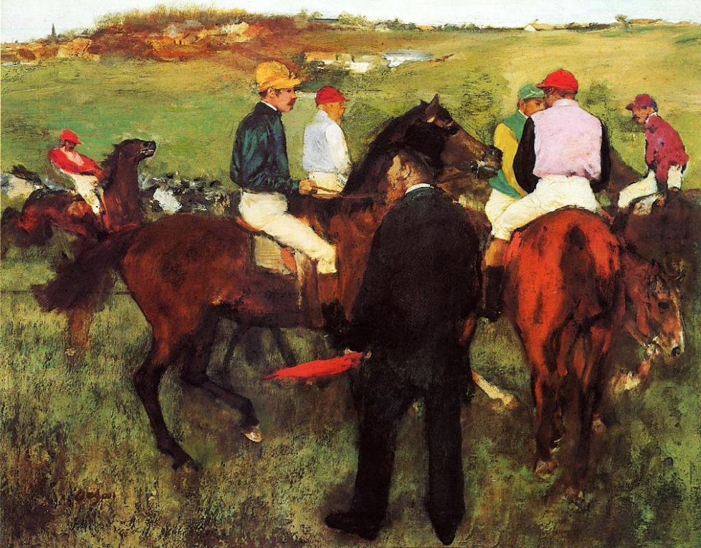 Edgar Degas. Race horses in Longchamp