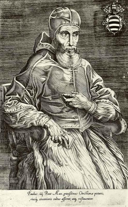 Николо Беатризе. Портрет папы Павла IV