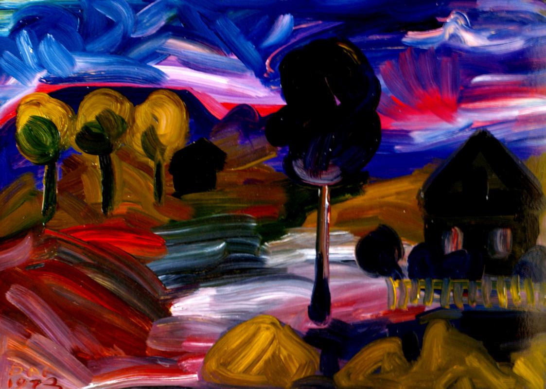 Alexander Ocher Kandinsky-DAE. Dawn in Ertegovo
