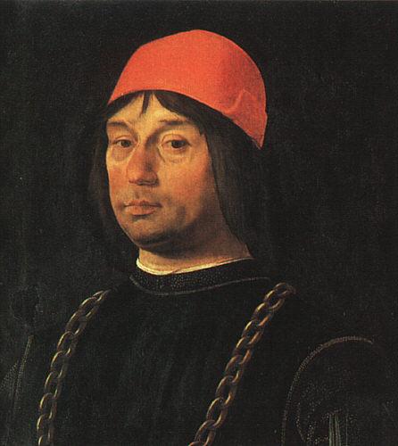 Lorenzo Costa. Portrait of a man