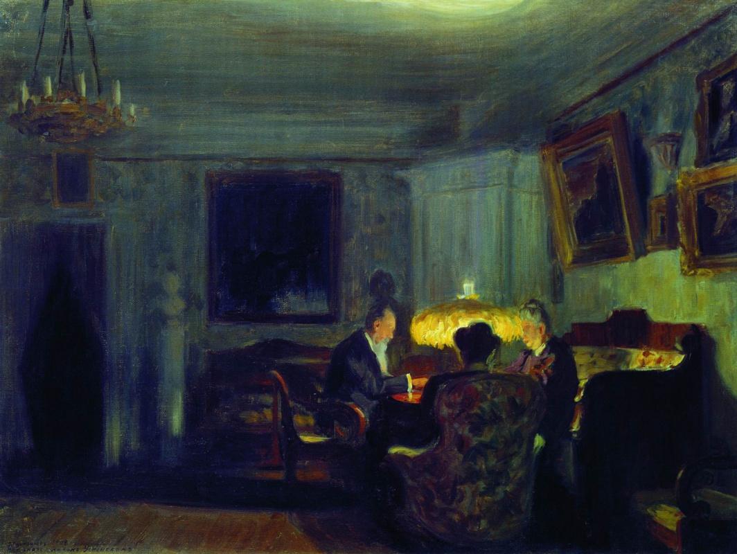 Boris Kustodiev. Group portrait of the family Schwartz