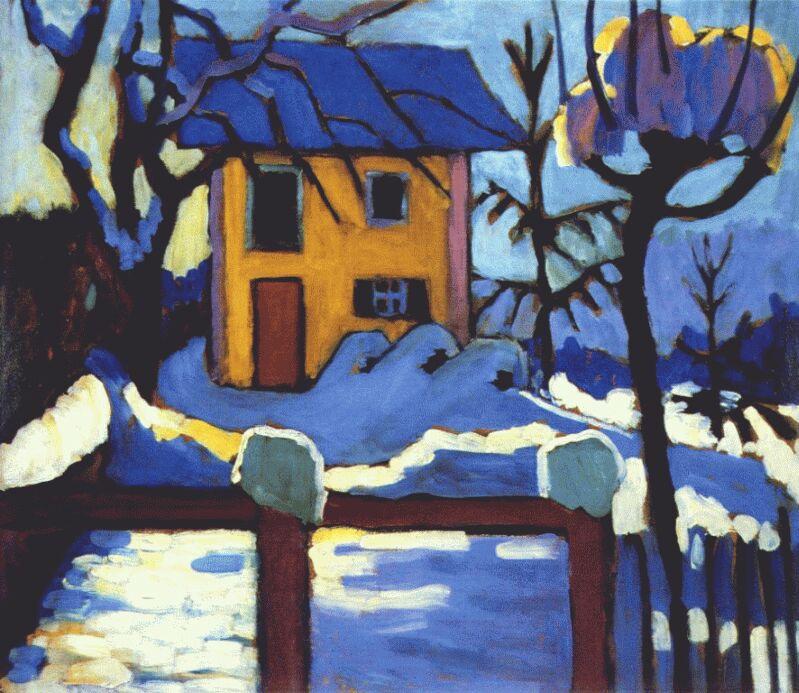 Габриель Мюнтер. Дом зимой