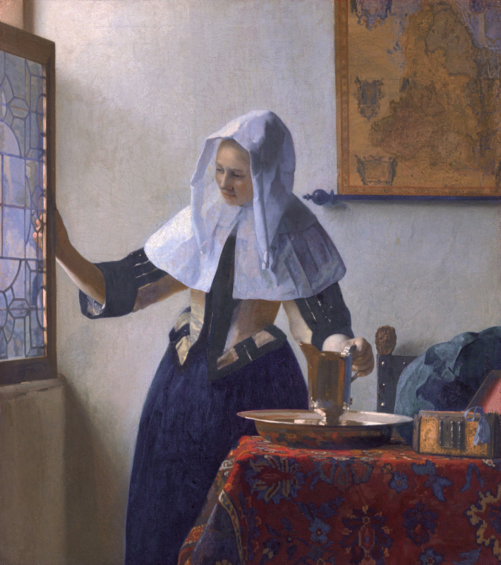 Jan Vermeer. A young woman with a water jug