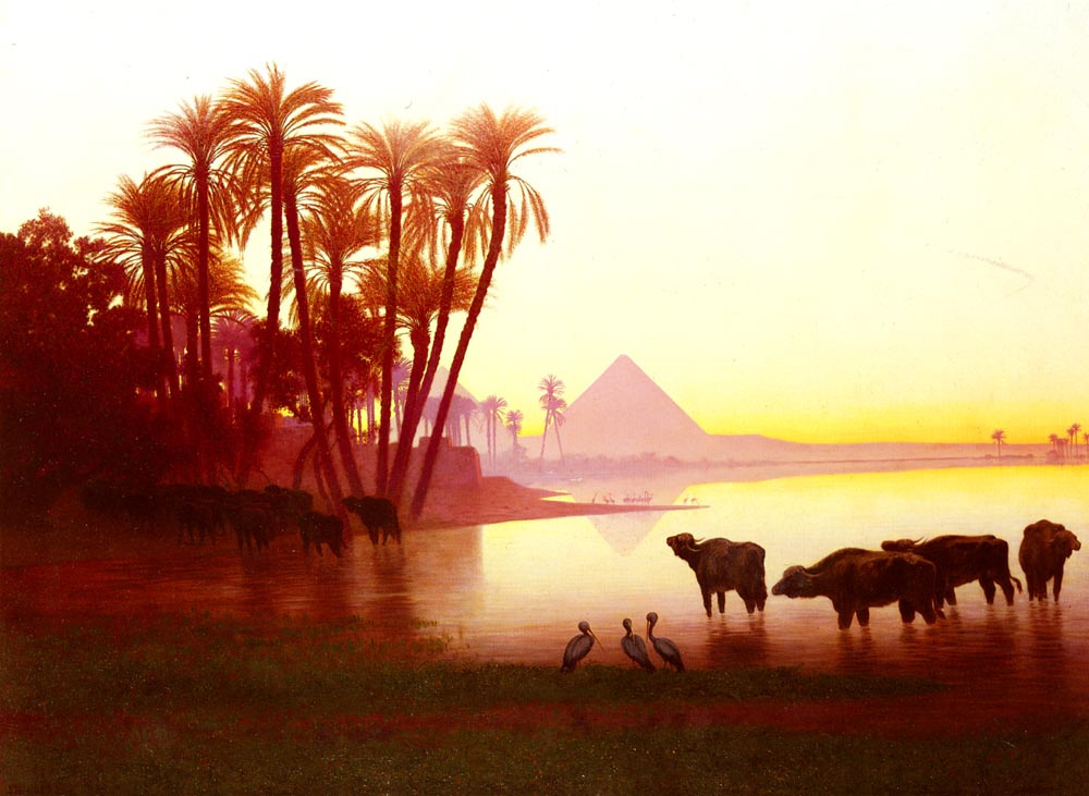 Karl Theodor Frer. Along The Nile