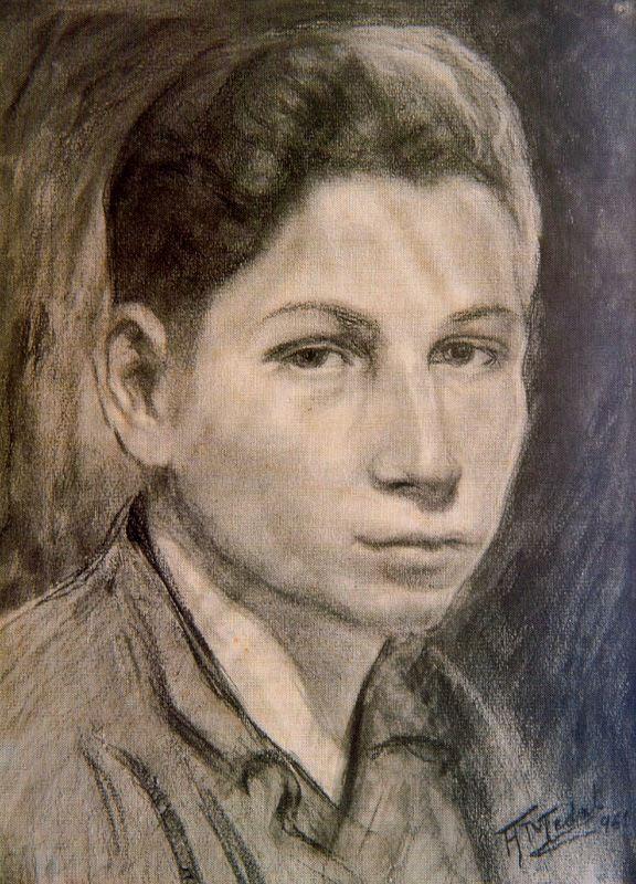 Антонио Медаль. Голова мальчика, эскиз