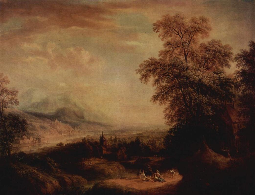Христиан Георг Шютц. Горный пейзаж