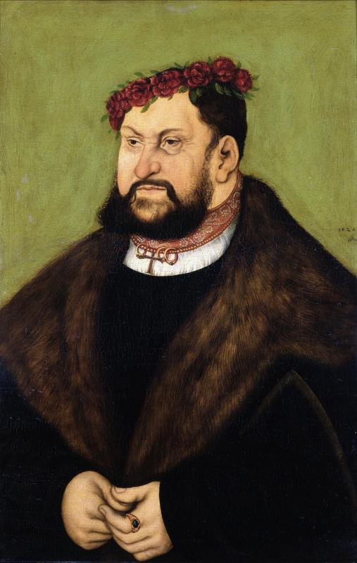 Lucas Cranach the Elder. Solid Johann, elector of Saxony