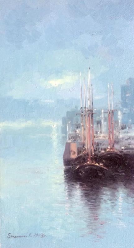 Vasily Ivanovich Gribennikov. Foggy morning