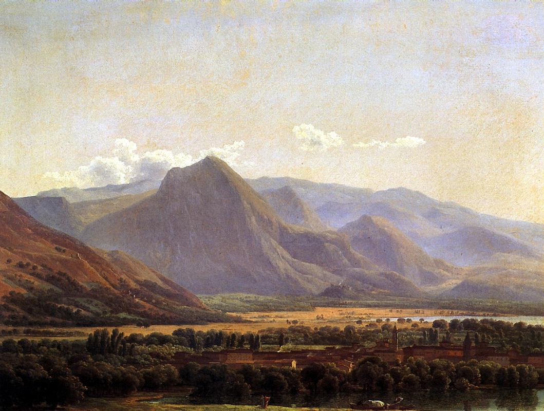 Жозеф Бидо. Вид города Аведзано