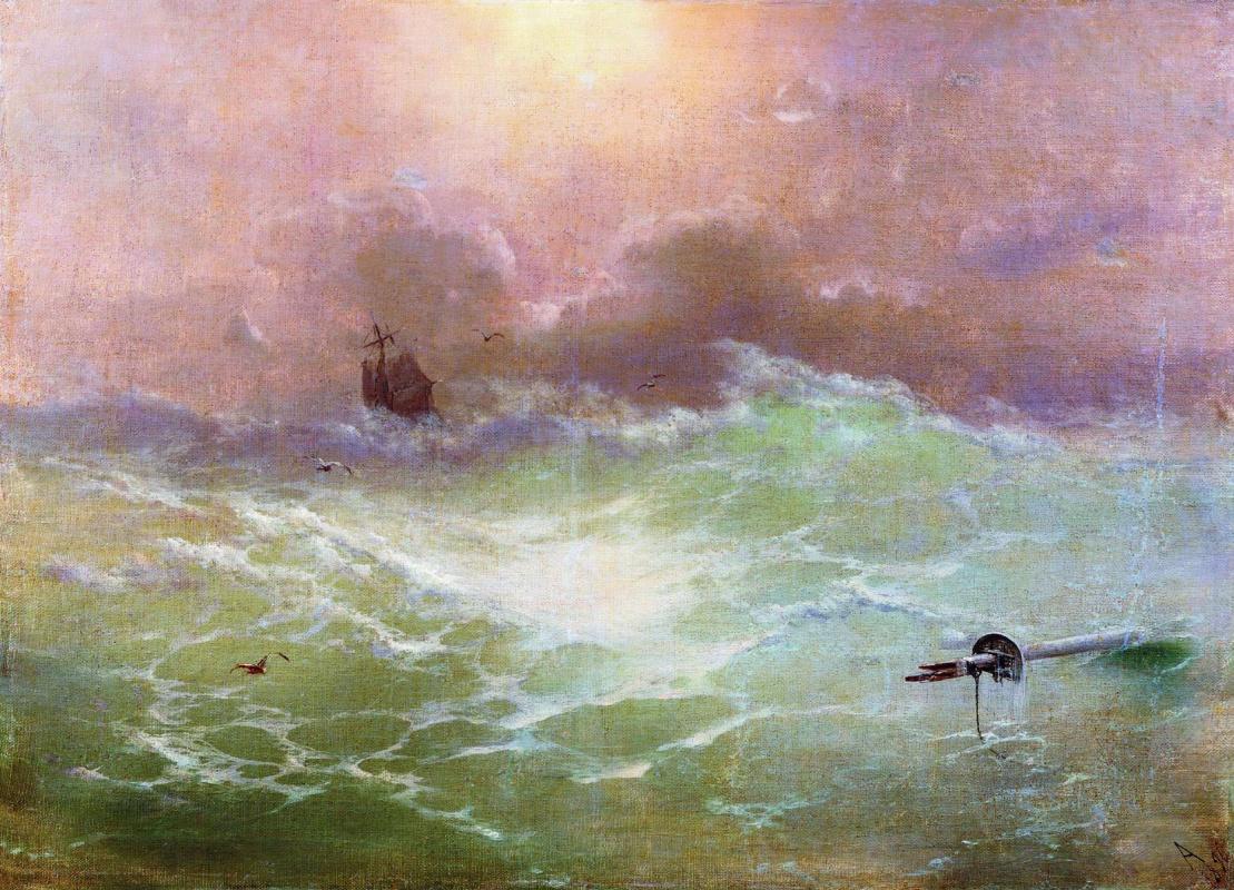 Ivan Aivazovsky. A ship in a storm