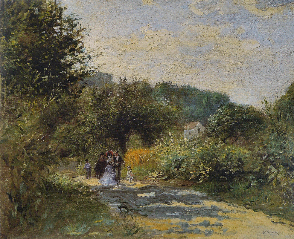Pierre-Auguste Renoir. The road to Loveshine