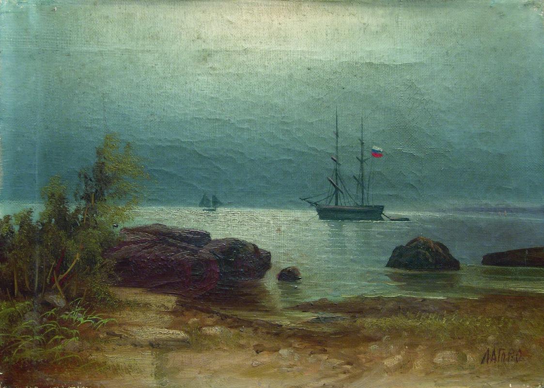 Lev Feliksovich Lagorio. Sailboats at anchor