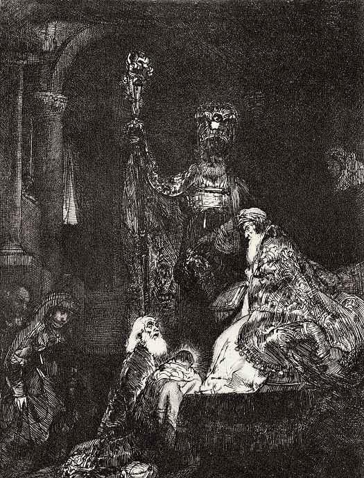 Рембрандт Ван Рейн. Принесение во храм