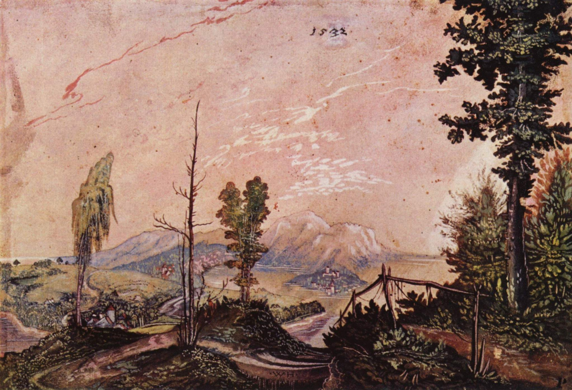 Wolf Huber. The landscape in the Alpine foothills