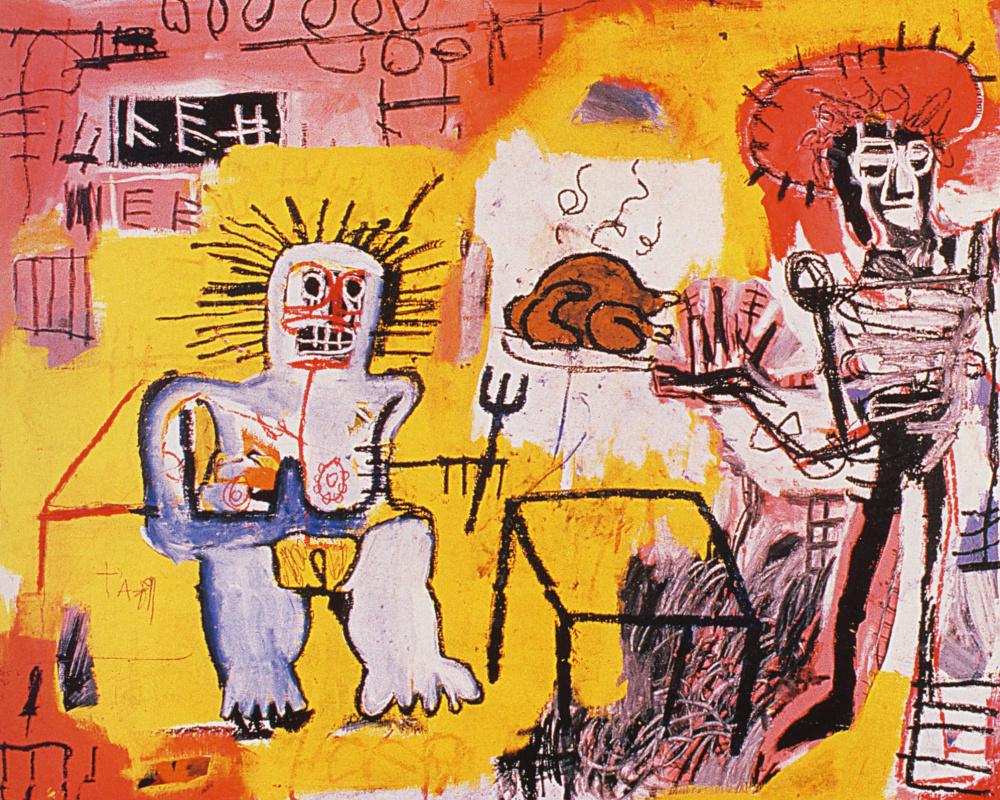 Jean-Michel Basquiat. Rice with chicken