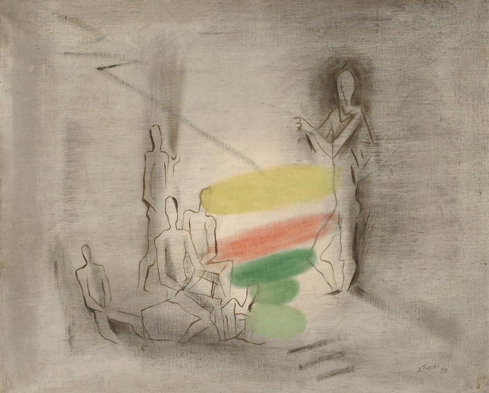 Сандро (Александр) Фазини (Срул Арьевич Файнзильберг). Фигуры с красным, желтым и зеленым