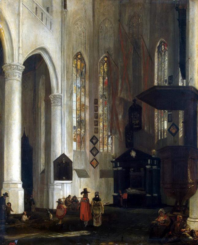 Эмануэль де Витте. Внутренний вид Старой церкви в Делфте