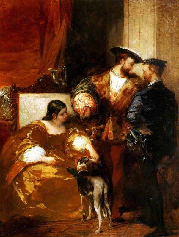 Ричард Паркс Бонингтон. Франциск I и герцогиня д'Этамп