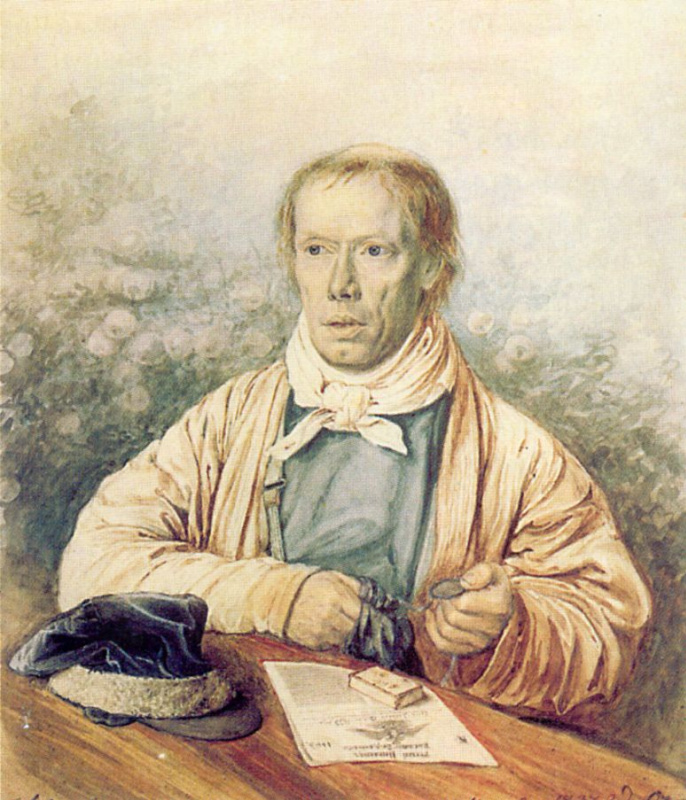 Pavel Andreevich Fedotov. Portrait of A.I. Fedotov, father of the artist