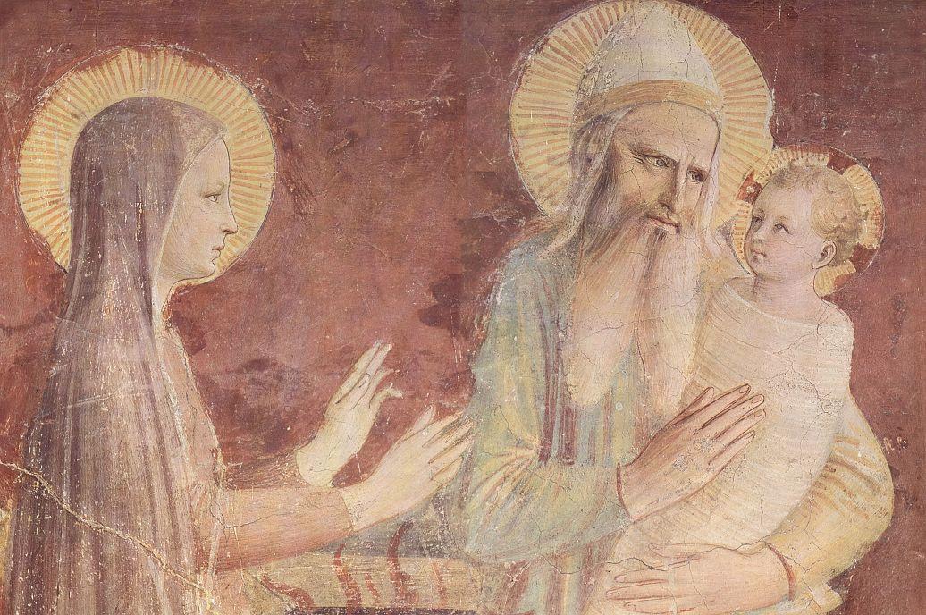 Фра Беато Анджелико. Принесение во храм, деталь