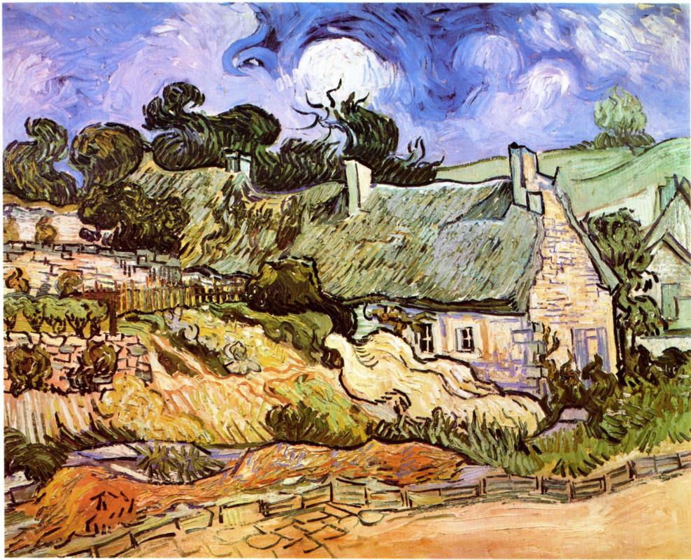 Винсент Ван Гог. Дома с соломенными крышами