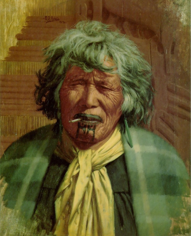 Чарльз Голди. Курящая женщина