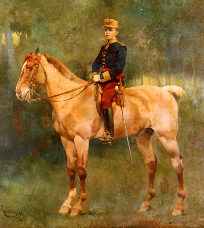 Хосе Кусачс. Портрет Альфонсо III верхом на коне