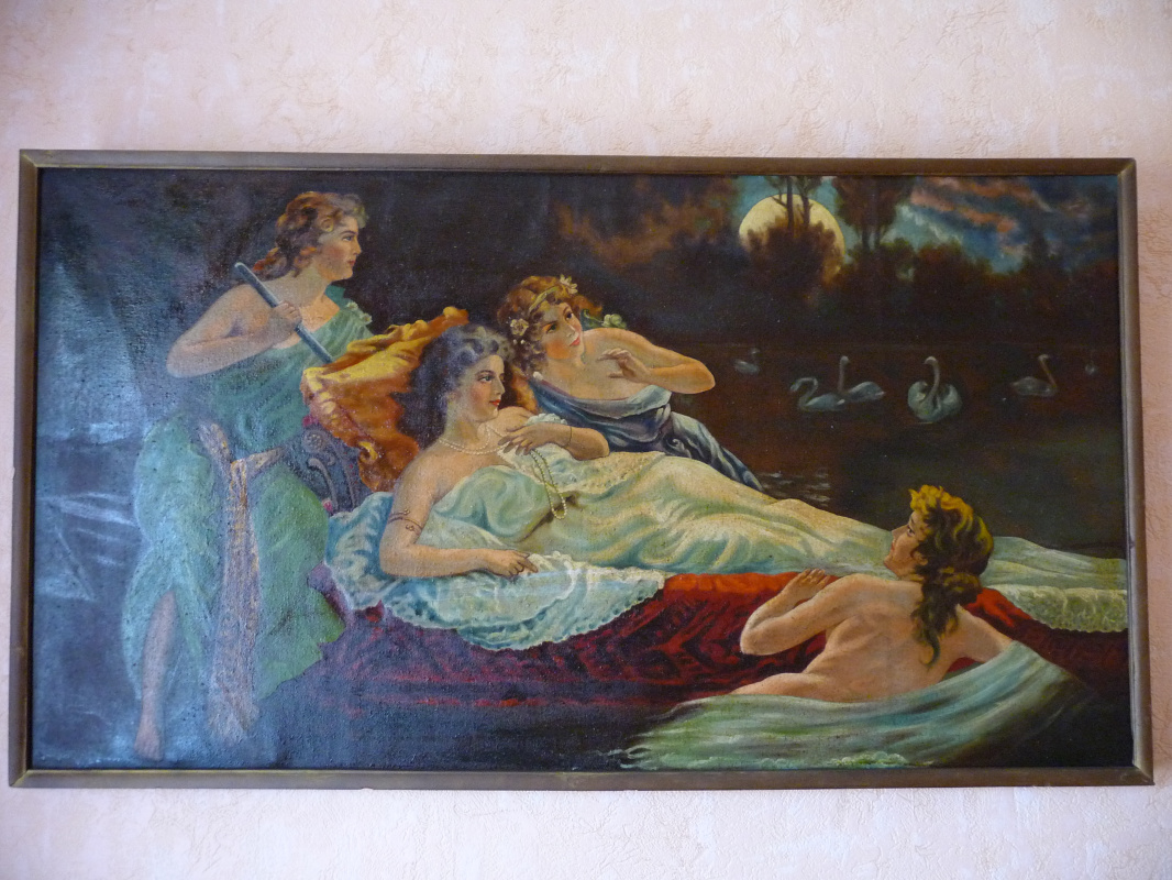 Unknown artist. 4 mermaids at the lake