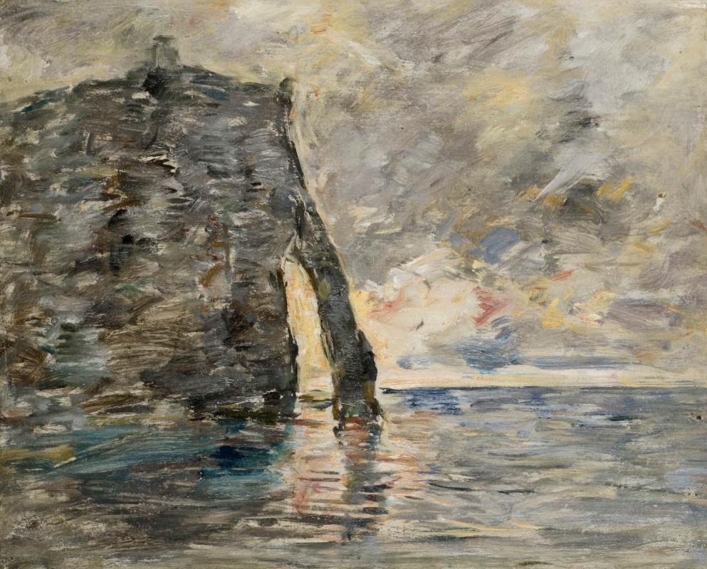 Eugene Boudin. Cliffs in Etretat