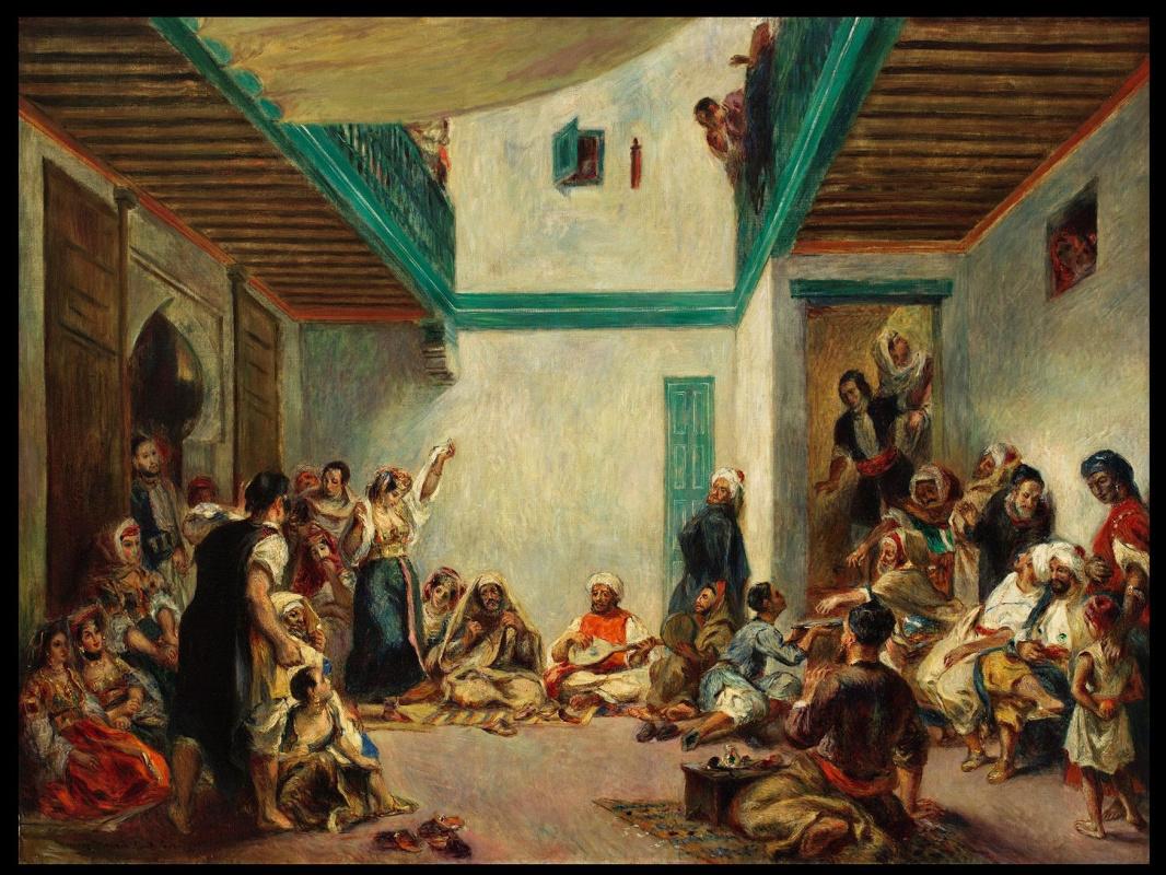 Пьер Огюст Ренуар. Еврейская свадьба в Марокко (копия картины Делакруа)