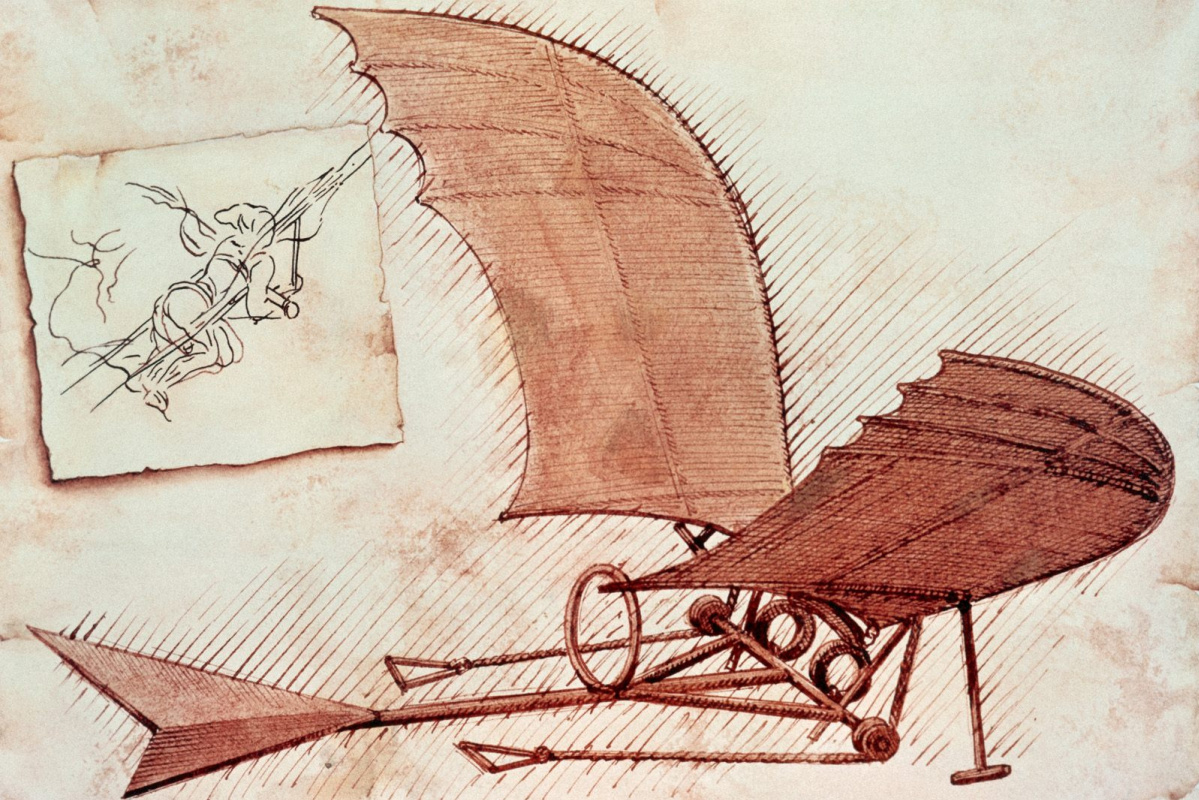Неизвестный  художник. Летающий аппарат