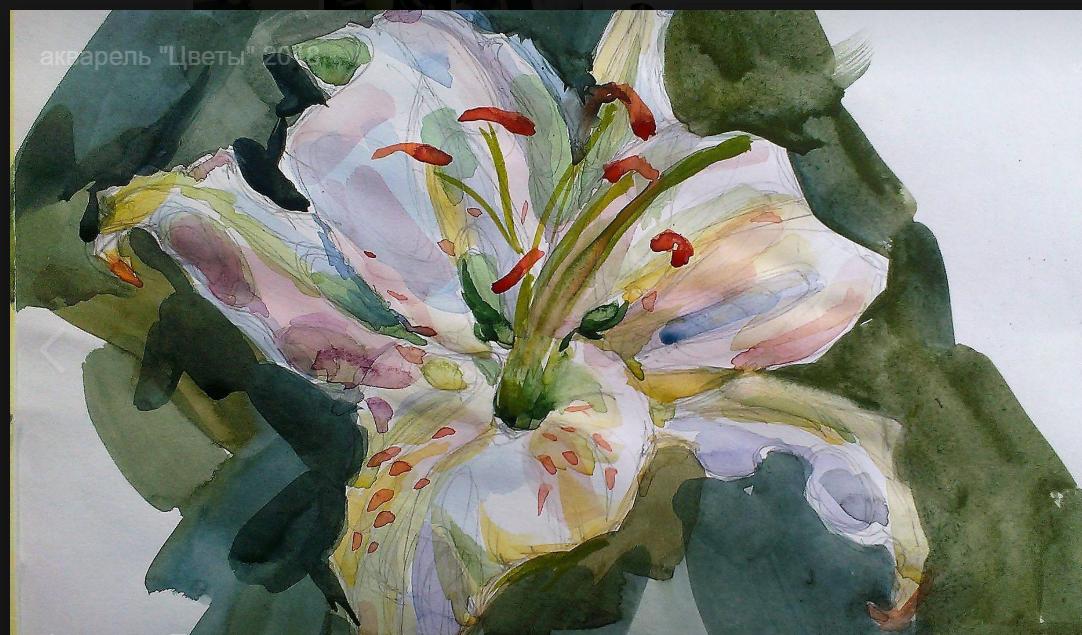 Lilia Georgievna Evsyukova. White Lily