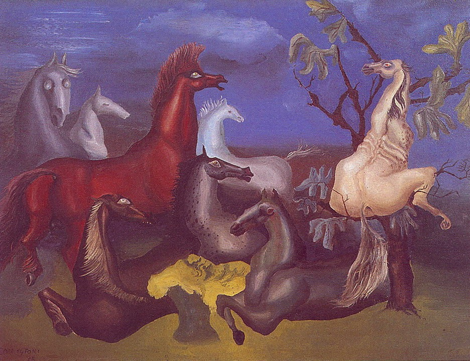 Leonora Carrington. The horses of Lord Candlestick
