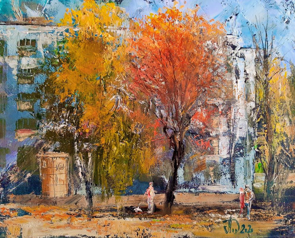 Alexander Alekseevich Lednev. Autumn courtyard