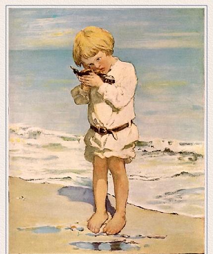 Джесси Уиллкокс Смит. Ребенок на пляже