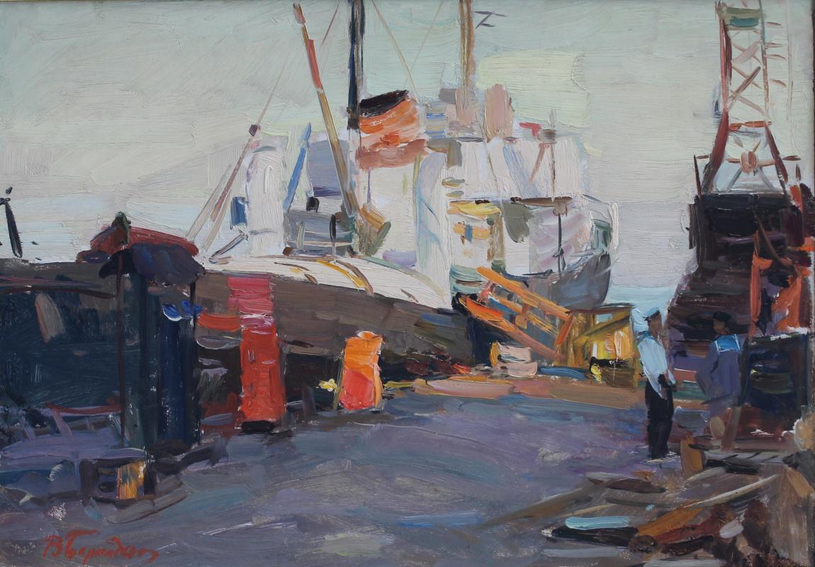 Gennady Valentinovich Bernadsky. On the dock
