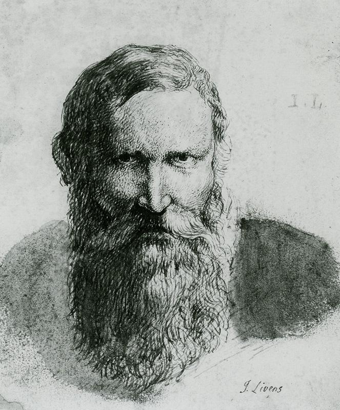 Jan Lievens. Portrait of a man with a beard (by Rubens)