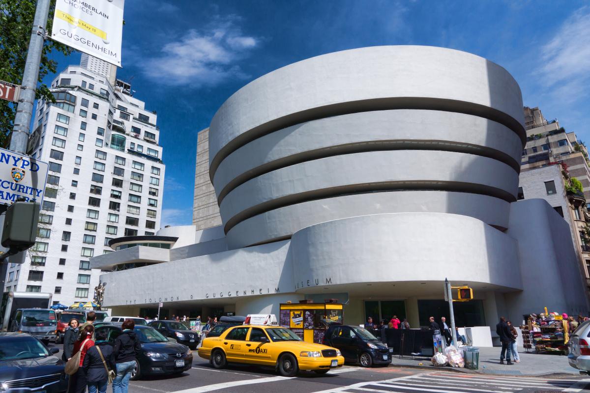 Frank Lloyd Wright. Solomon Guggenheim Museum in New York