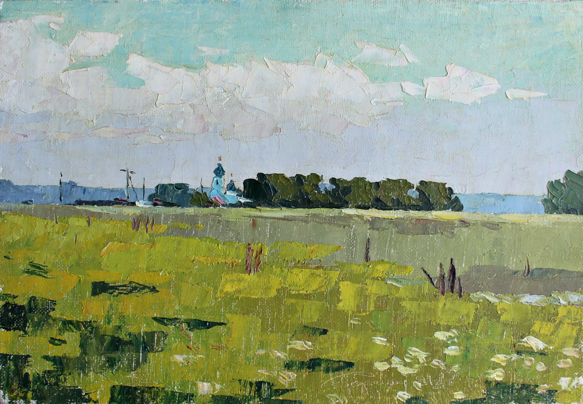 Boris Alexandrovich Chepkasov. The steppe is blooming. Don